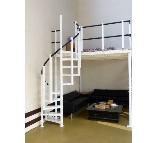 Spiral stairs for mezzanines