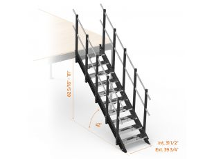 Metal stairs for mezzanines