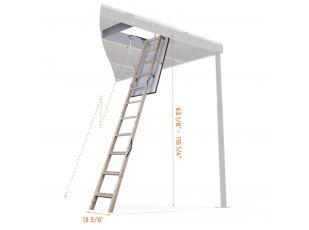 Retractable wooden Ladder