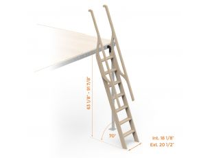 Wooden boat Ladder