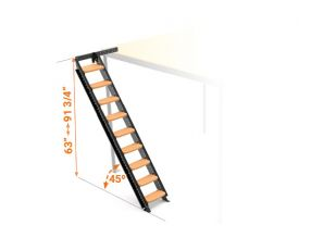 Stair for mezzanine