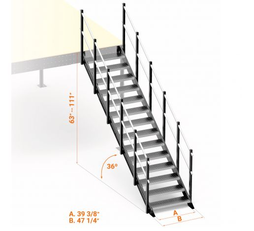 General access straight stairs M