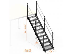 Long straight stairs S