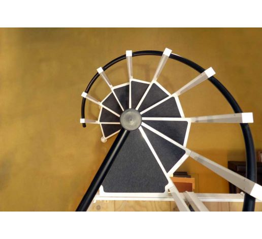 Self-adhesive mats for spiral stairs