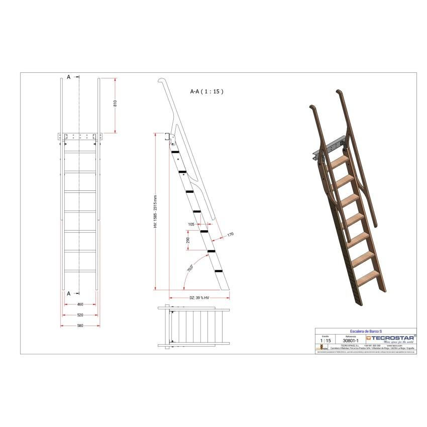 Industrial alternating tread stairs M
